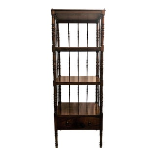 Antique English Rosewood 4 Tier Etagere, Circa 1850. For Sale