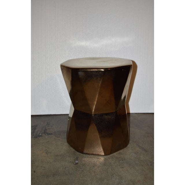 Gold Geometric Side Table - Image 2 of 4