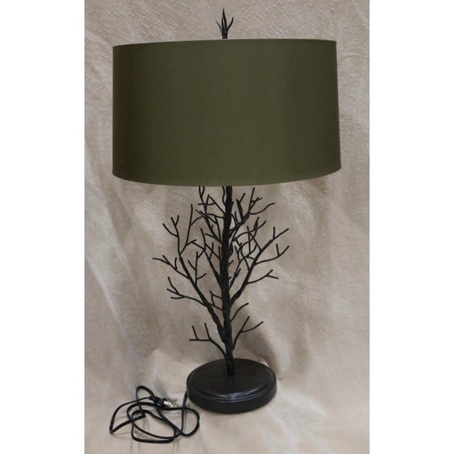 Vintage Currey Co Faux Bois Arbor Tree Branch Table Lamp Chairish