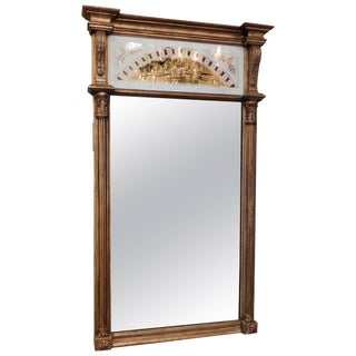 Neoclassical Églomisé Panel Mirror, Circa 1800 For Sale