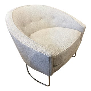 Milo Boughman Inspired Barrel Chair For Sale