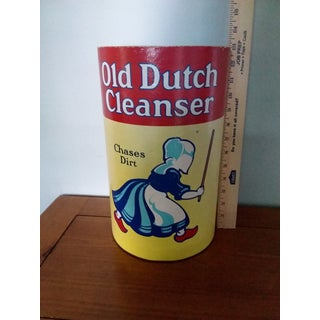 "Oversized Vintage Advertising Store Display Can ""Old Dutch Cleanser"" Preview"