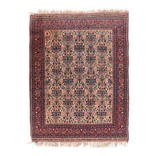 Antique Rust Afshar Persian Area Rug For Sale