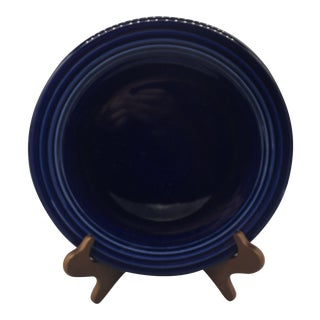 Fiestaware Chop Plates in Cobalt, White and Turquoise - Set of 4