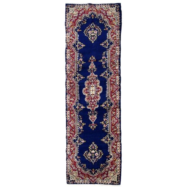 1930s, Handmade Antique Persian Kerman Runner 2.5' X 8.1' For Sale - Image 9 of 9