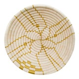 Image of Indego Africa Handwoven Tan Lines Plateau Basket For Sale