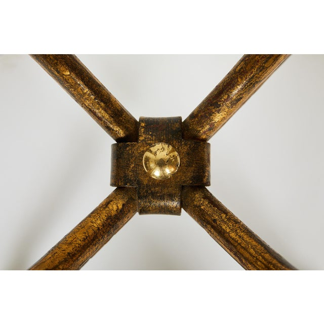 Italian Gilt Wrought Iron and Brass Center Table Base For Sale In Atlanta - Image 6 of 10