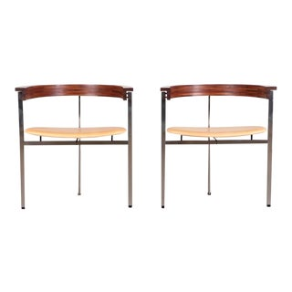 1970s Poul Kjaerholm Pk11 Side Chairs - a Pair For Sale