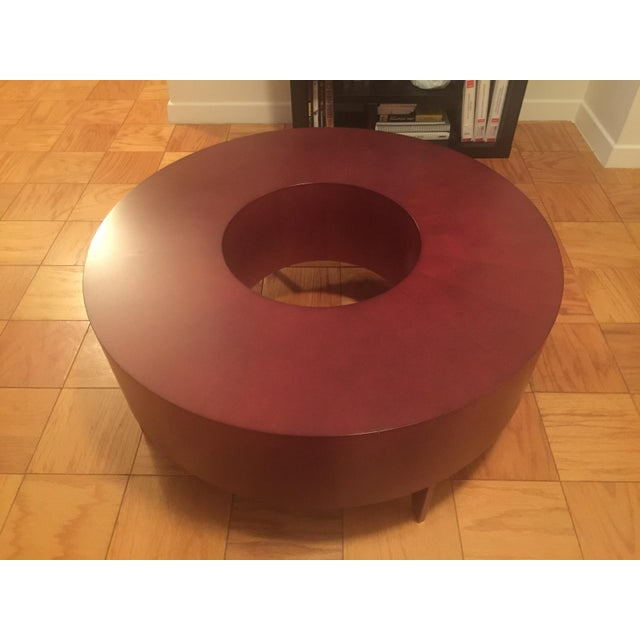Red Round Coffee Table - Image 3 of 10