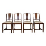 Image of 1920s Vintage Art Deco Pratts of Bradford Dining Chairs- Set of 4 For Sale