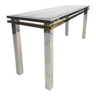 Mid-Century Modern Paul Evans Style Sofa Table For Sale
