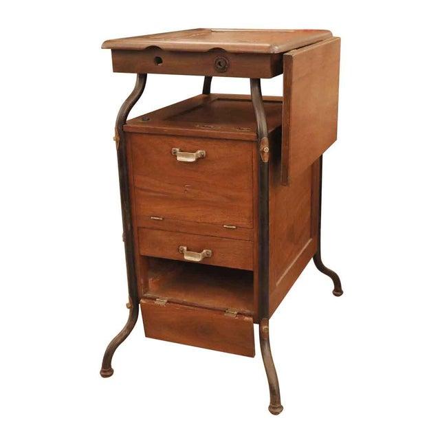 1920's Vintage Gestetner Duplicator Machine Wooden Cabinet For Sale - Image 9 of 9