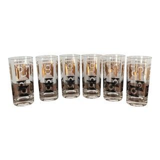 Mid-Century Hi-Ball Glasses - Set of 6 For Sale