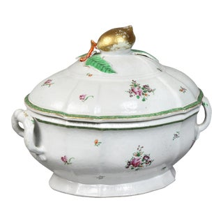 Chinese Export Porcelain Soup Tureen For Sale