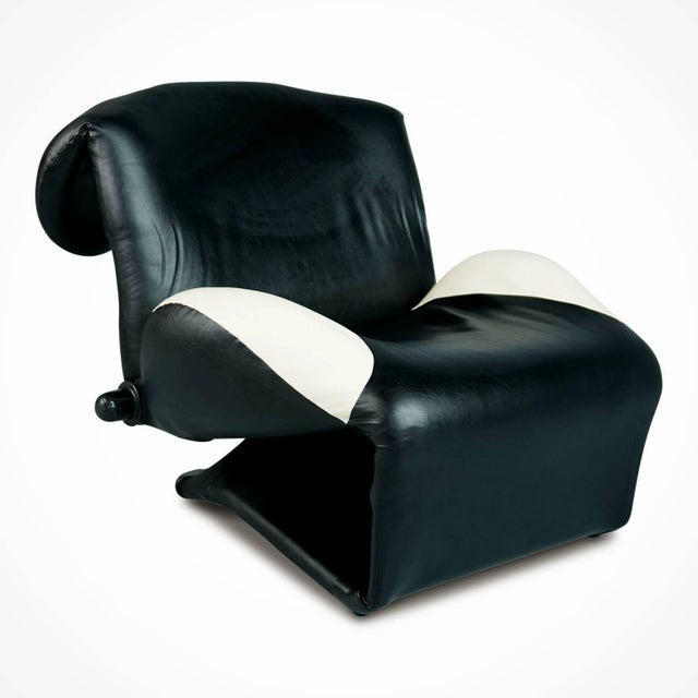 """Memphis 1980s Toshiyuki Kita """"Wink"""" Lounge Chair for Cassina, Italy For Sale - Image 3 of 11"""
