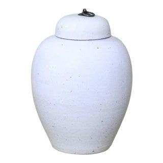 Sarried Ltd Lidded White Porcelain Urn For Sale