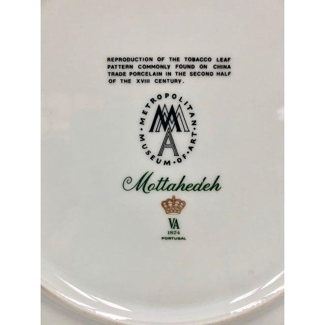 Blue 1980s Mottahedeh Tobacco Leaf Porcelain Plate For Sale - Image 8 of 11