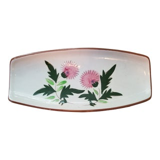 "Stangl Dela Ware ""Thistle"" Condiment Server-2 For Sale"