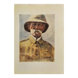 """M. Menpes 1901 """"Lord Roberts"""" Lithograph"""