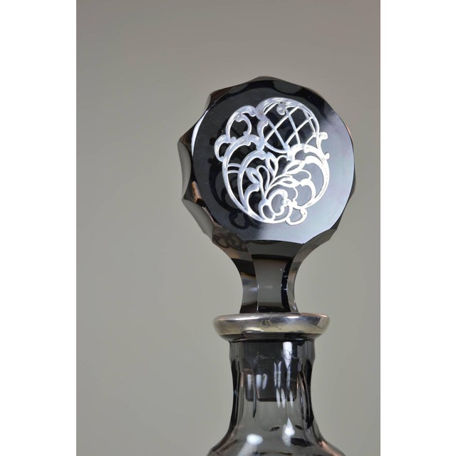 1920s Silver Decorated Crystal Decanter For Sale - Image 5 of 8