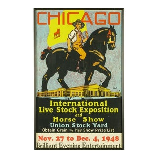 Colorful 1948 Livestock Exhibition Poster By Norman Tolson