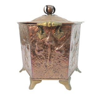 Art Nouveau Coal Scuttle For Sale