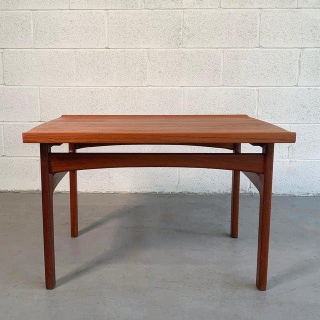 DUX Teak Side Table by Tove and Edvard Kindt-Larsen for Dux For Sale - Image 4 of 9