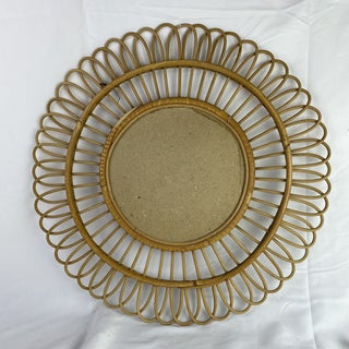 French Mid-Century Bamboo Mirror Preview