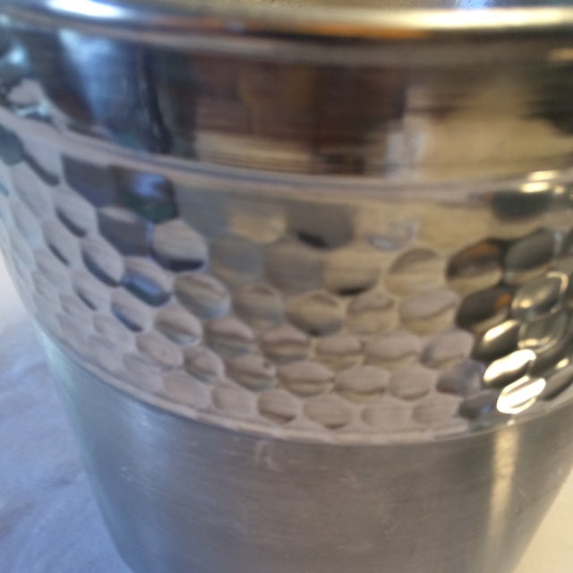 Silver Vintage Italian Insulated Aluminum Ice Bucket by Nasco For Sale - Image 8 of 11