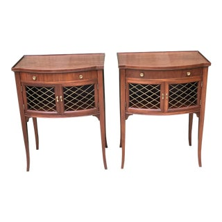 Imperial Mahogany One Drawer End Tables - a Pair For Sale