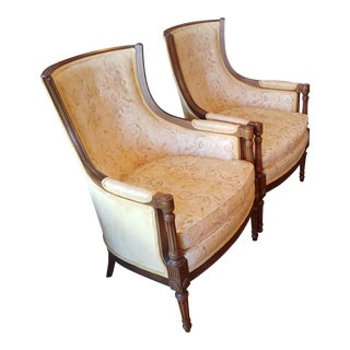 1960s Vintage Comfortable Pair of Regency Style Chairs- A Pair For Sale