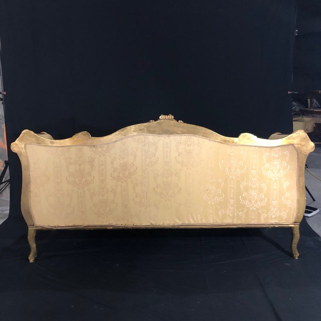 French Louis XV Style Giltwood Sofa For Sale - Image 12 of 13