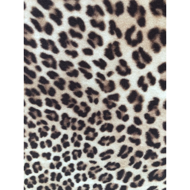 Leopard Print Parsons Dining Chairs - Set of 2 For Sale In Miami - Image 6 of 9