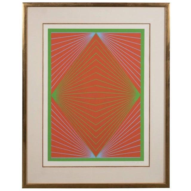 "Richard Anuszkiewicz ""Diamond Chroma"" Screenprint in Colors, 1965 For Sale - Image 10 of 10"