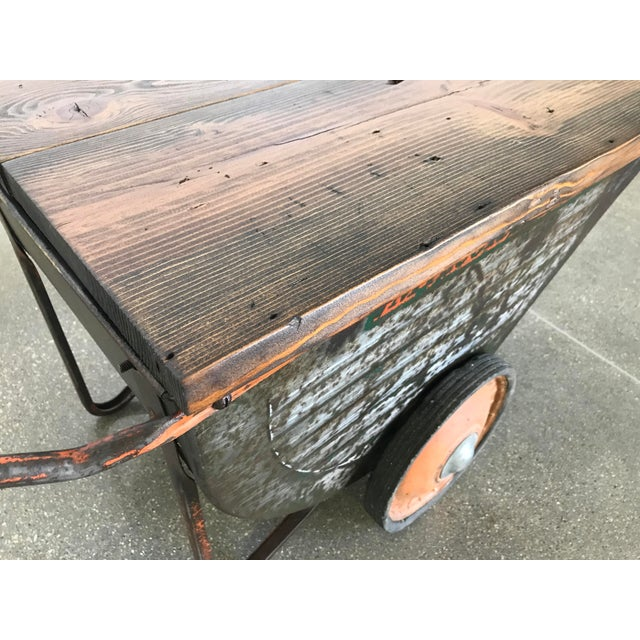 Vintage Industrial Cart Table or Beverage Cart - Image 5 of 10