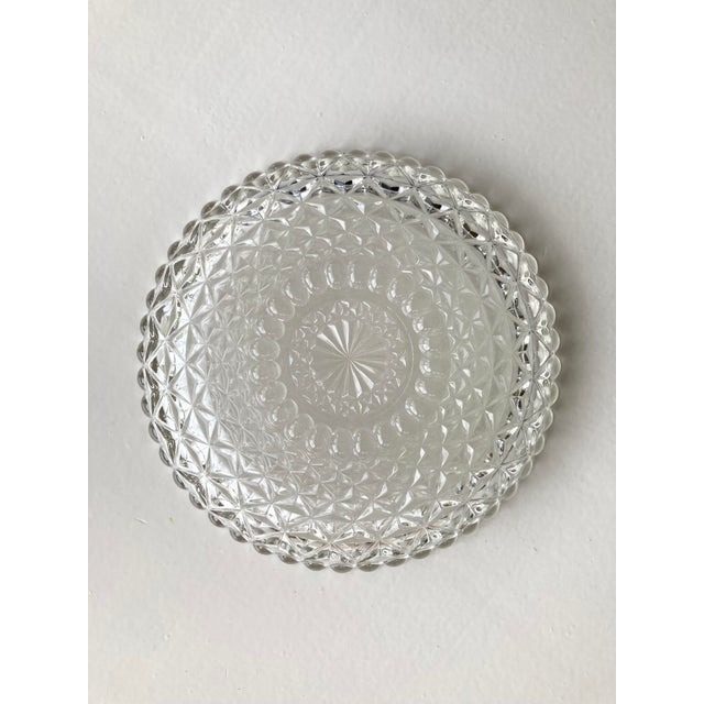 Vintage Textured Glass Catchall Dish For Sale - Image 9 of 11