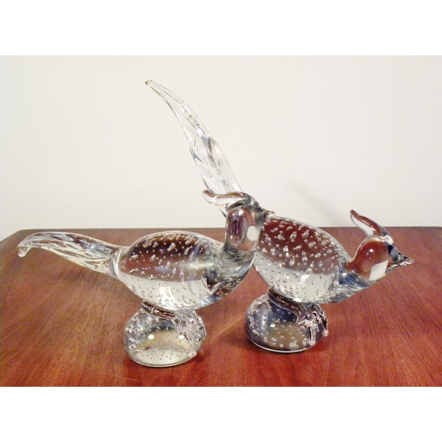 Art Glass Pheasant Figurines - A Pair - Image 4 of 5