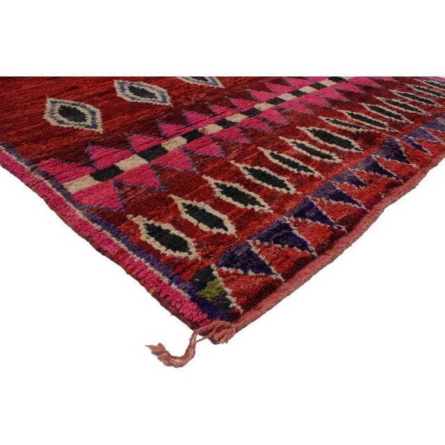 Abstract 20th Century Moroccan Berber Rug - 5'3 X 7'8 For Sale - Image 3 of 5