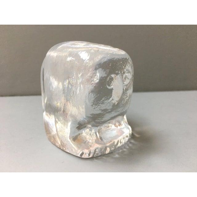 Kosta Boda Erik Höglund for Boda Scandinavian Modern Art Glass Owl For Sale - Image 4 of 10