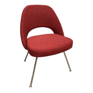 Contemporary Eero Saarinen for Knoll Executive Red Office Chair