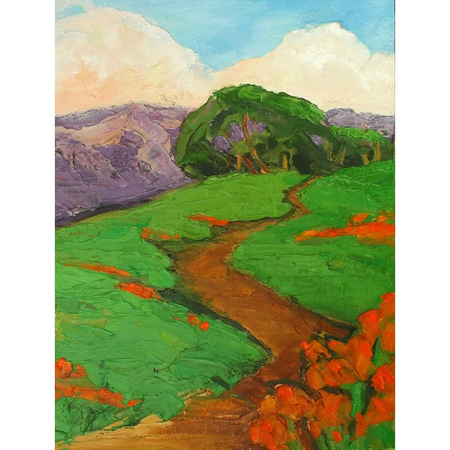 Lynne French California Landscape Poppy Hills Original Painting For Sale