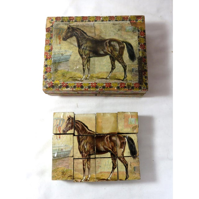Antique Childs Wood Block Puzzle Set For Sale In Boston - Image 6 of 13