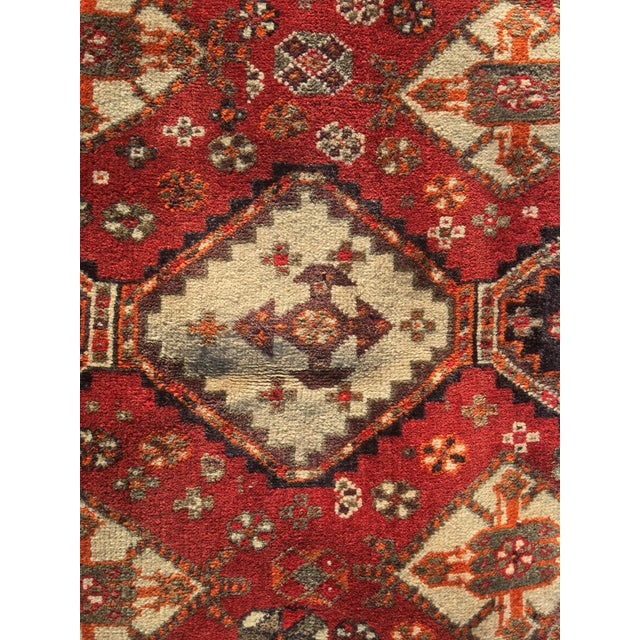 """Textile Vintage Persian Qashqai Area Rug - 4'10"""" x 7'10"""" For Sale - Image 7 of 11"""