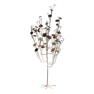 Large Mid-Century C. Jere 'Raindrop' Tree Sculpture For Sale