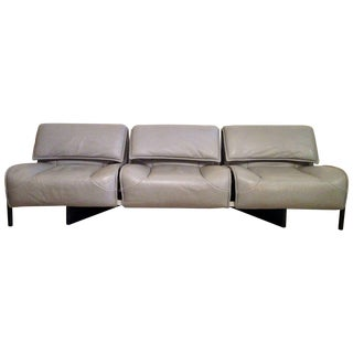 "Cassina Vico Magistretti ""Veranda 3"" Sofa 1980s For Sale"