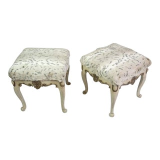 Pair of Chippendale Styled Stools For Sale