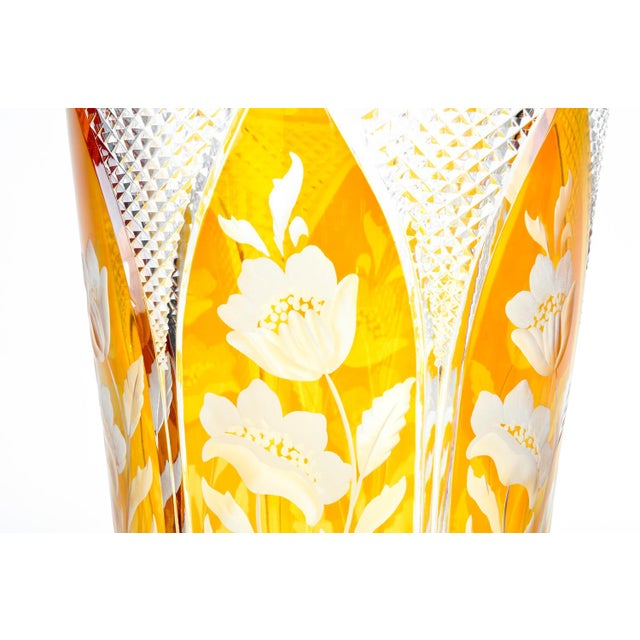 Glass Cut-Crystal Vase For Sale - Image 7 of 11
