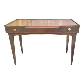 Danish Mid Century Modern Teak Vanity Desk/Table For Sale