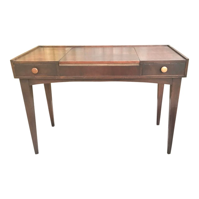 Danish Mid Century Modern Teak Vanity Desk/Table For Sale