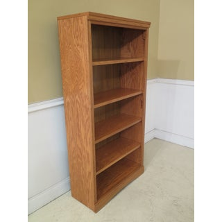 Transitional Solid Oak Open Bookcase Preview